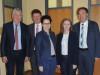 Die Landtagsabgeordneten Sandra Boser und Marion Gentges mit den Bürgermeistern