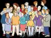 Karikatur einer Menschenmenge
