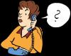 Karikatur einer Dame am Telefon