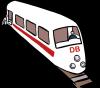 Karikatur eines Zugs